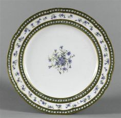 A plate from a service created for Marie Antoinette in 1781.