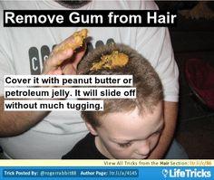 Hair - Remove Gum from Hair