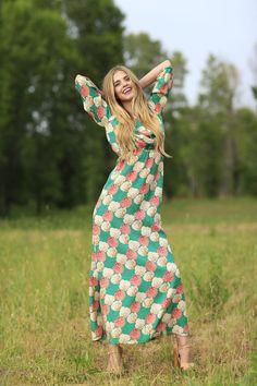Bridget Floral Maxi Dress Green