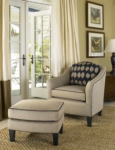 942 Smith Brothers Fabric Chair And Ottoman Furniture Companies