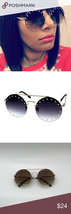 45222835a8a4 Rimless Circle Style Sunglasses w MetalStud Detail Get up and go stunt with  these amazing. Poshmark
