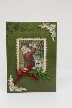 After a short break we are back to Christmas Cards! This series is a big one so i am going to post these ones 2 at a time. The paper collection is Kaisercraft Letters to santa, and I purchased the …