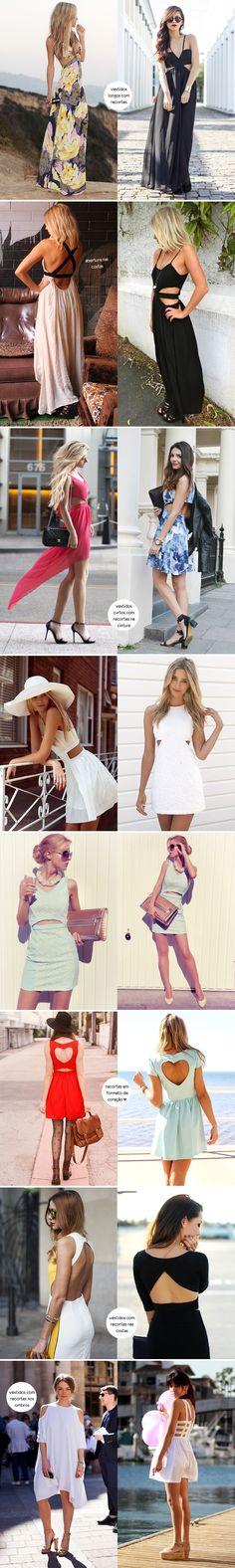 Inspiração como usar look vestido com recortes / vestido cut out