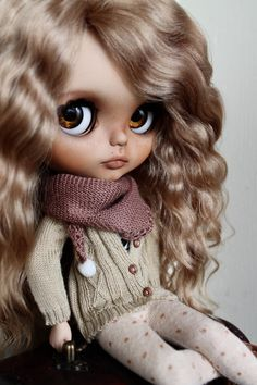 Bianca - Custom Blythe Doll, OOAK Art Doll                                                                                                                                                                                 More