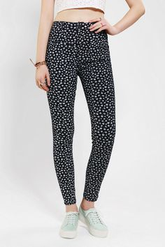 BDG High-Rise Seamed Jean - Ditsy Flower I NEED THESE PANTS.
