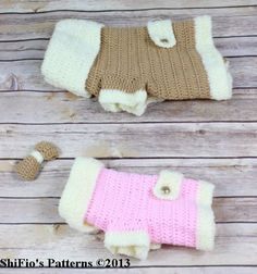 Crochet Pattern For Dog Jacket # 179 Dog Sweater Pattern, Crochet Dog Sweater, Cat Pattern, Crochet Gifts, Crochet Yarn, Crochet Toys, Crochet Dog Clothes, Dog Jacket, Puppy Clothes