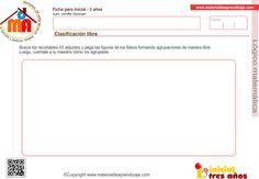 Clasificación libre 1: Lógico matemática 3 años - Material de Aprendizaje