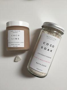 Body polish and coconut cream bath soak, perfect for dry winter skin