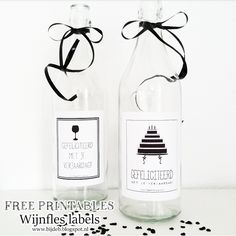 bijdeb: Gefeliciteerd wijnfles labels...
