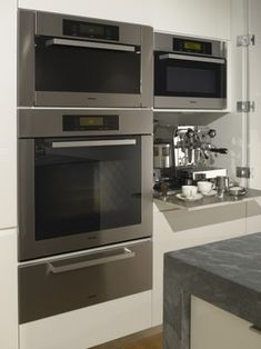 Miele microwave oven and warming drawer the cooking - Miele kitchen cabinets ...