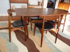Mid Century MODERN Teak DANISH DINING Table By CIRCA60 On Etsy 75000
