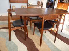 mid century MODERN teak DANISH DINING table by CIRCA60 on Etsy, $750.00