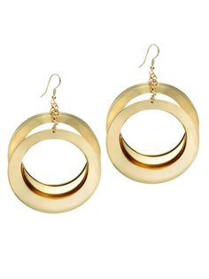 A classic shape; these gold earrings are super elegant.