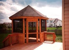 deck with screened gazebo - Google Search