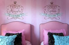 My Twin Sister's room and i, there is for quadruplets (four twins if u don't get it) <3 These are some ideas we all like!