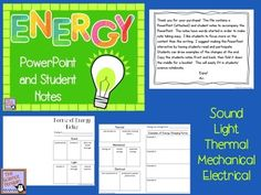 Forms of Energy PowerPoint and Notes $