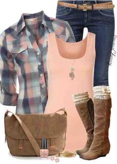 Love the cute touch with the boot warmers; the pale pink gives enough of a feminine touch for me to pull this off.