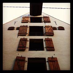 Windows in Riga. Old Riga.