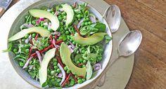Summer Pea, Avocado and Beetroot Salad