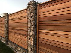 Cedar fence gabion posts