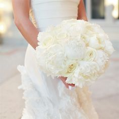 wedding bouquet white pretty shape