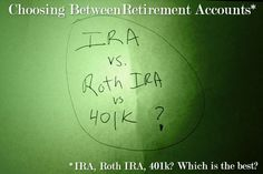 Choosing Between Retirement Accounts: Traditional IRA, Roth IRA And 401k