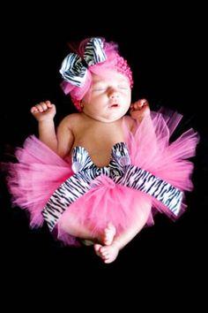 Zebra Rocks Little Girls Hot Pink Tutu - 2102