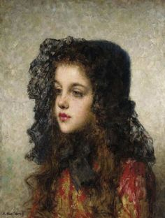 Little Girl with Veil by Alexei Harlamoff