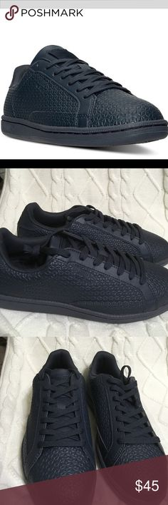 Puma Tennis Puma match emboss tennis with texture finish new navy Puma Shoes
