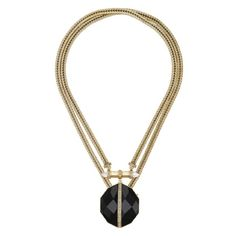 """Atlas Convertible Statement Necklace Endless styling possibilities with this trendy 2-in-1 convertible necklace. Inspired by the black sand + glacial valleys of Iceland. Layer it up for a chic collar or remove the two clasps + attach them together for a longer statement making look. Rock Crystal + clear Crystal pave + jet black resin. 15"""" length or 33"""" length. Jewelry Necklaces"""