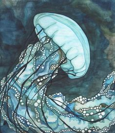 Jellyfish by Tamara Phillips, via Behance Need to get into water color!!!