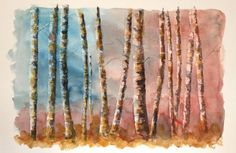 Abstract Forest of Birch Trees. by EngelhardtDesigns on Etsy