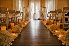 So simple- LOVE it! #Wedding Aisle Decoration Design