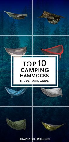 Top 10 Best Camping Hammocks – Best Camping Gear – Hiking Gear For Beginners – Backpacking Equipment List for Women, Men and Kids (Camping Hacks For Women) Best Camping Hammock, Camping Bedarf, Best Camping Gear, Camping Guide, Camping Checklist, Camping World, Camping Essentials, Camping With Kids, Hiking Gear