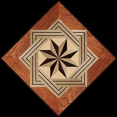 8 RAYS MQF SQ - Hardwood Floor Medallion