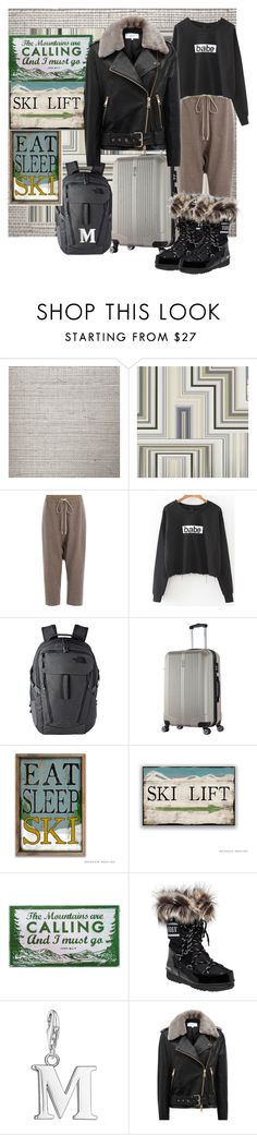 """My Airport Style to go Skiiing"" by summer-marin on Polyvore featuring Cole & Son, Christian Lacroix, Rick Owens, The North Face, Thomas Sabo and Reiss"