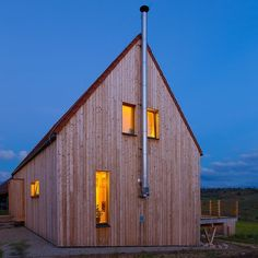 Modern Passive Home by Liptovska Kokava Switzerland House, Extensive Green Roof, Larch Cladding, Roof Insulation, Exhibition Building, A Frame House, Building Companies, Construction Process, Natural Building