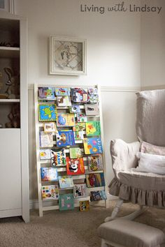 DIY: Crib rail transformed into a bookself
