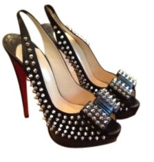 Christian Louboutin Clou Noeud Spikes 150 KID Black Pumps    omg!!