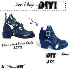 DIY Balenciaga Cut-Out Boots