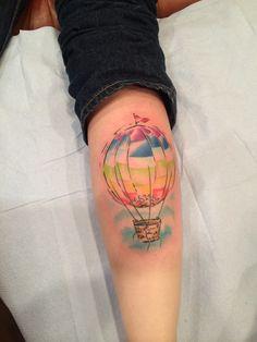 Hot Air balloon on my calf!