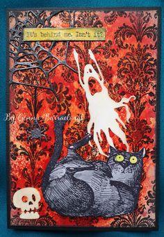 Halloween Items, Halloween Pictures, Halloween Cat, Crazy Bird, Crazy Cats, Tim Holtz, Sizzix Dies, Stampers Anonymous, Cat Cards
