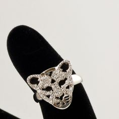 #animals #jewelry #rings / Inel Leopard argint   SilverBox.ro Jewelry Rings, Heart Ring, Silver Rings, Animals, Animales, Animaux, Heart Rings, Animal, Animais