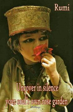 Uncover in silence your soul's own rose garden... - Rumi