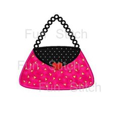Fashion purse handbag applique machine embroidery by FunStitch