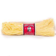 Vintage Aunt Lydias Yarn Heavy Rug #505 Light Yellow 235 #Crafting #CraftProjects 70 Yard Skein #AuntLydias #RugYarn