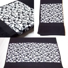 Black Skulls Bath Towel by Pornoromantic www.pornoromantic.etsy.com #pornoromantic #etsy #black #towel #bathroom #bathtowel #homedecor #homeaccessories #skulls #skull