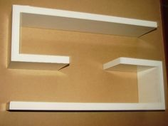 Repisa minimalista flotante mdf crudo p  pintar 18 mm nueva