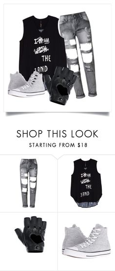 """""""Rock Band Outfit"""" by slothmonster ❤ liked on Polyvore featuring Melissa McCarthy Seven7, FRACOMINA, Converse and plus size clothing"""