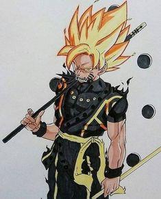 Goku and Naruto Fusion looks sick asf Goku E Naruto, Goku Y Vegeta, Akira, Character Art, Character Design, Anime Crossover, Fan Art, Anime Comics, Geeks